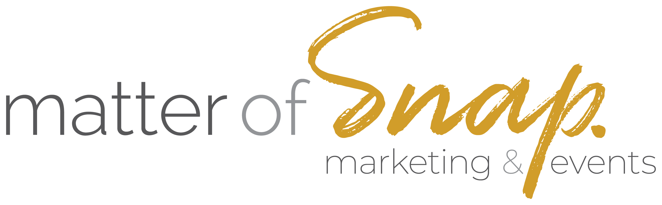 Matter of Snap Marketing & Events Logo